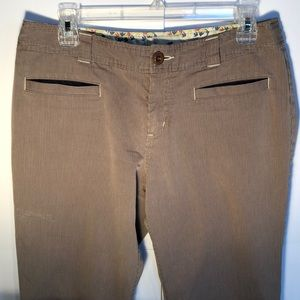 Horny Toad size 8 pin striped tan  pants